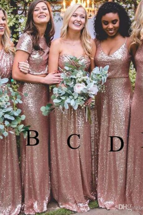 Bridesmaid Dresses,Bridesmaid Dresses 2017,Bridesmaid Dresses Long,Sparkly Bridesmaid Dresses,Sequins Bridesmaid Dresses,New Bridesmaid Dresses,Cheap Bridesmaid Dresses